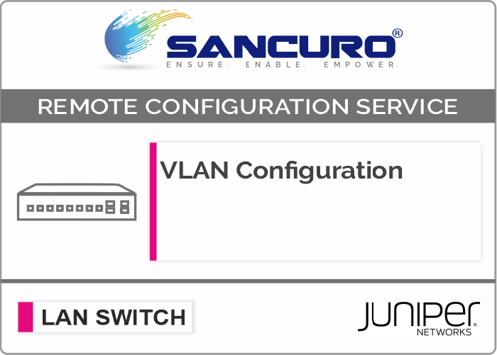 VLAN Configuration in JUNIPER L3 LAN Switch For Model EX2200, EX2300,  EX3300, EX3400