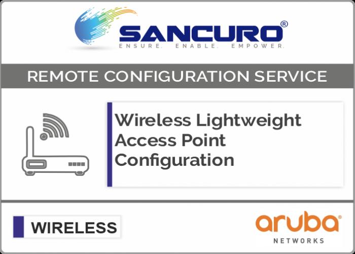 Aruba Lightweight Wireless Access Point Configuration