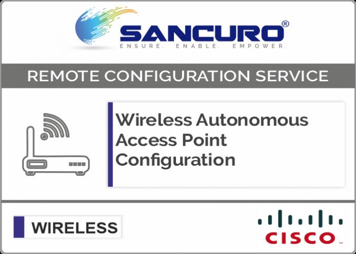 Cisco Autonomous Wireless Access Point Configuration