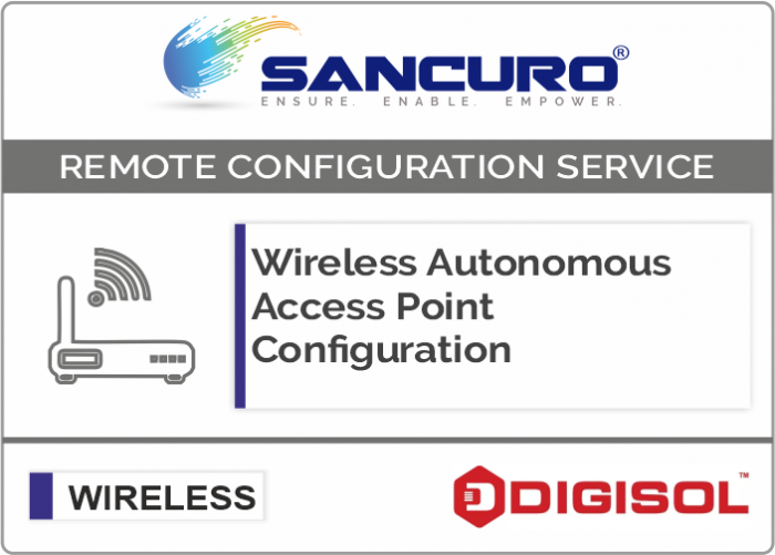 Digisol Autonomous Wireless Access Point Configuration