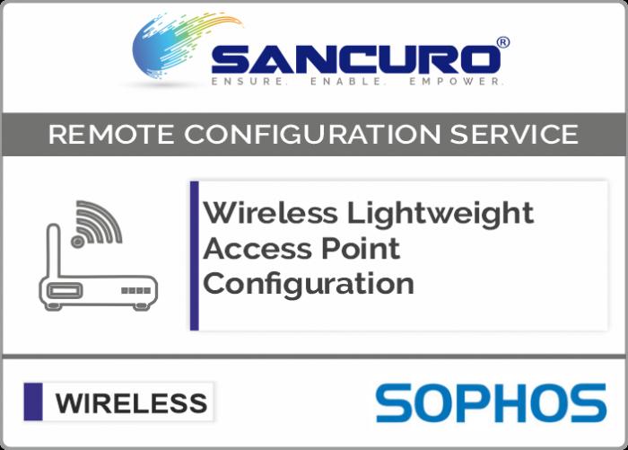 Sophos Lightweight Wireless Access Point Configuration