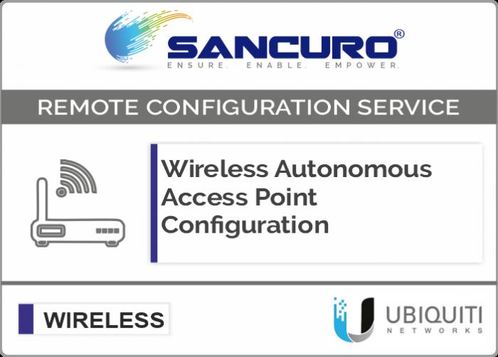 UBIQUITI Autonomous Wireless Access Point Configuration