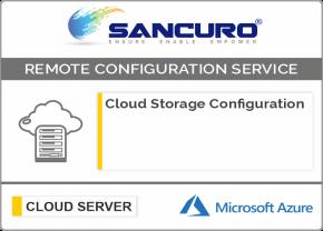 Azure Cloud Storage Configuration