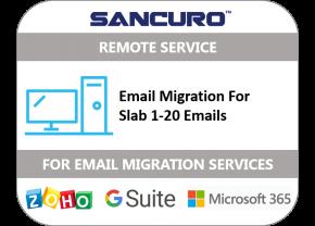 Email Migration for Slab 1-20 Emails