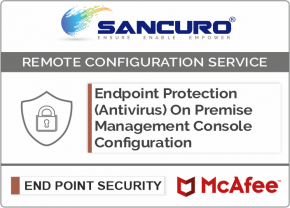 McAfee On Premise Endpoint Protection (Antivirus) Management Console Configuration