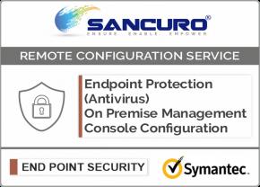 Symantec On Premise Endpoint Protection (Antivirus) Management Console Configuration