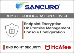 McAfee On Premise Endpoint Encryption Management Console Configuration