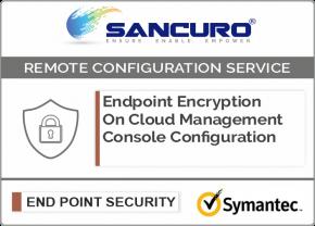 Symantec On Cloud Endpoint Encryption Management Console Configuration