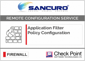 Application Filter Policy Configuration For Check Point Firewall