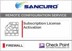 Check Point Firewall Subscription License Activation