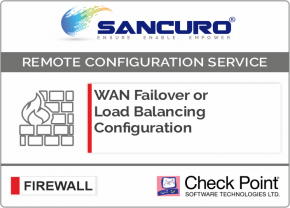 WAN Failover or Load Balancing Configuration in Check Point Firewall