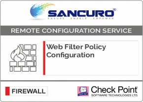 Web Filter Policy Configuration For Check Point Firewall