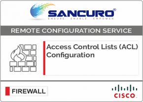 Access Control Lists (ACL) Configuration for CISCO Firewall