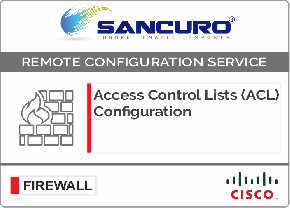 Access Control Lists (ACL) Configuration for CISCO Firewall For Model Series ASA 5545, ASA5500