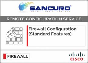 CISCO Firewall Configuration (Standard Features) For Model Series ASA 5520, ASA 5525