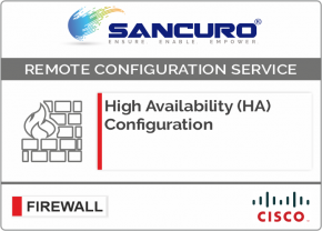 High Availability (HA) Configuration For CISCO Firewall For Model Series ASA 5510