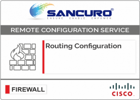 Routing Configuration in CISCO Firewall