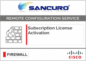 CISCO Firewall Subscription License Activation