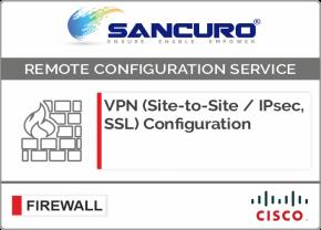 VPN (Site-to-Site / IPsec, SSL) Configuration in CISCO Firewall For Model Series ASA 5520, ASA 5525