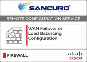 WAN Failover or Load Balancing Configuration in CISCO Firewall