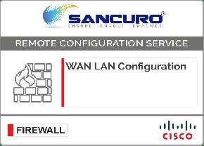 WAN LAN Configuration For CISCO Firewall For Model Series ASA 5545, ASA5500