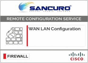 WAN LAN Configuration For CISCO Firewall For Model Series ASA 5510