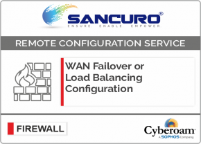 WAN Failover or Load Balancing Configuration in Cyberoam Firewall