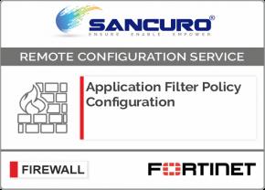 Application Filter Policy Configuration For FORTINET Firewall For Model 50E, 60E, 80E, 90E