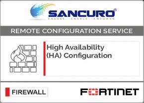 High Availability (HA) Configuration For FORTINET Firewall For Model 50E, 60E, 80E, 90E