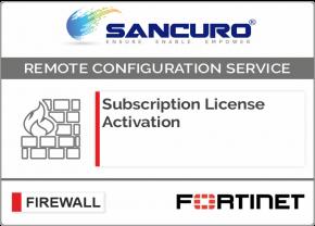 FORTINET Firewall Subscription License Activation For Model 50E, 60E, 80E, 90E