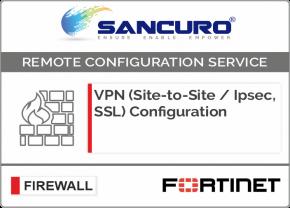 VPN (Site-to-Site / IPsec, SSL) Configuration in FORTINET Firewall For Model 50E, 60E, 80E, 90E
