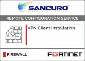 FORTINET VPN Client Installation For Model 50E, 60E, 80E, 90E