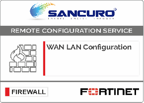 WAN LAN Configuration For FORTINET Firewall For Model 50E, 60E, 80E, 90E