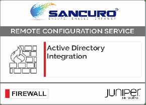 Active Directory Integration for JUNIPER Firewall For Model Series SRX500, SRX600