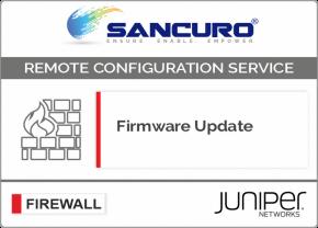 Firmware Update for JUNIPER Firewall