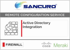 Active Directory Integration for MERAKI Firewall For Model Series MX80, MX100