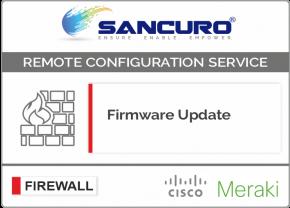 Firmware Update for MIRAKI Firewall