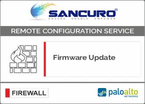 Firmware Update for Palo Alto Firewall