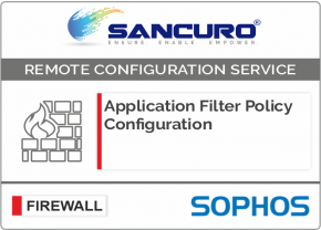 Application Filter Policy Configuration For SOPHOS Firewall For Model Series XG80, XG100