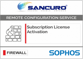SOPHOS Firewall Subscription License Activation For Model Series XG80, XG100