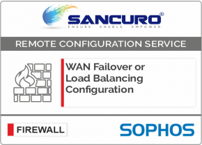 WAN Failover or Load Balancing Configuration in SOPHOS Firewall For Model Series XG80, XG100