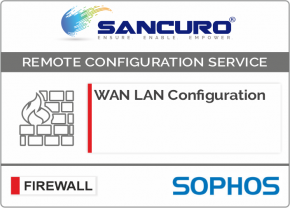 WAN LAN Configuration For SOPHOS Firewall For Model Series XG80, XG100