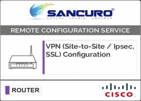 VPN (Site-to-Site / IPsec, SSL) Configuration in CISCO Router