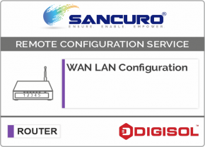 WAN LAN Configuration For DIGISOL Router