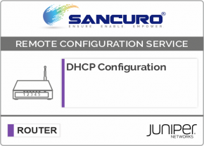 DHCP Configuration For JUNIPER Router