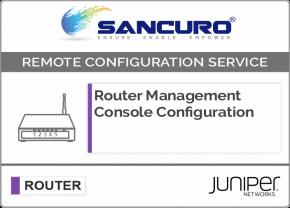 JUNIPER Router Management Console Configuration