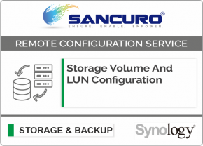 Storage Volume And LUN Configuration For Synology Storage For Model FS & XS Series