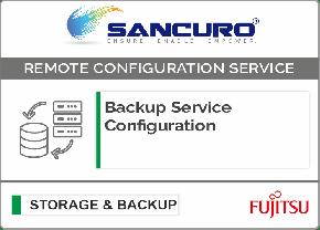 Backup Service Configuration For FUJITSU Storage ETERNUS DX60 S4 Hybrid System