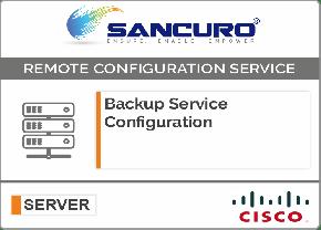Backup Service Configuration For CISCO Server