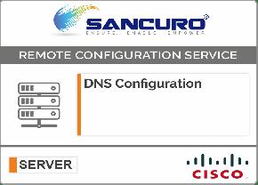 DNS Configuration For CISCO Server